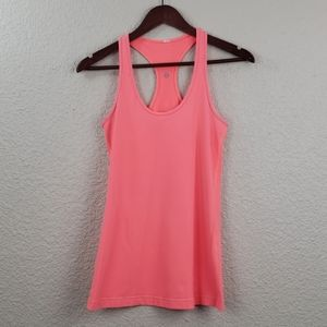 lululemon Racer tank Neon Coral size 4
